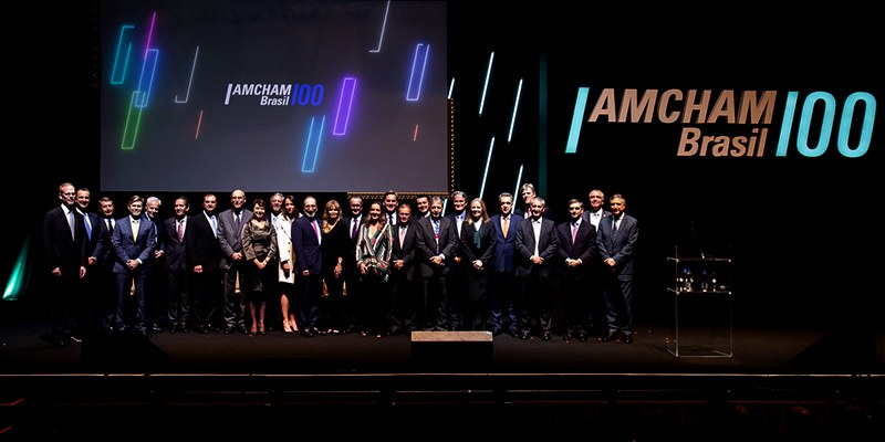 São Paulo - Luiz Pretti (Cargill) assume mandato na cerimônia que marca os 100 anos da Amcham